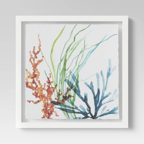 """20""""x20"""" Garden Watercolor Framed Wall Print- Threshold™ - image 1 of 3"""