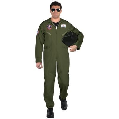 Adult Men's Top Gun: Maverick Flight Suit Halloween Costume