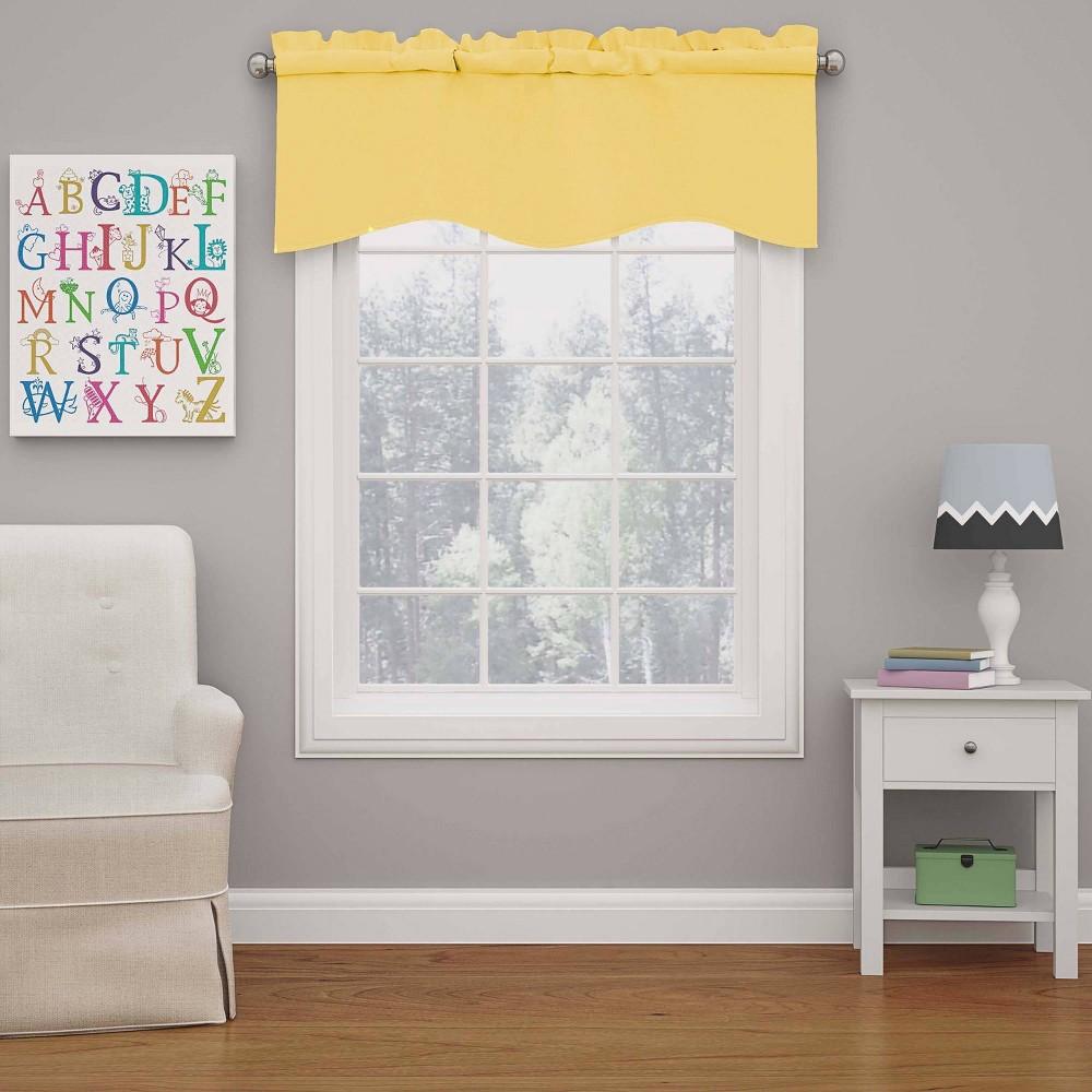 18 34 X42 34 Kendall Blackout Wave Window Valance Yellow Eclipse My Scene
