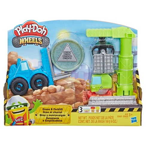 Play-Doh Wheels Crane and Forklift Construction Toys with Non-Toxic Play-Doh Cement Buildin' Compound Plus 2 Additional Colors - image 1 of 4
