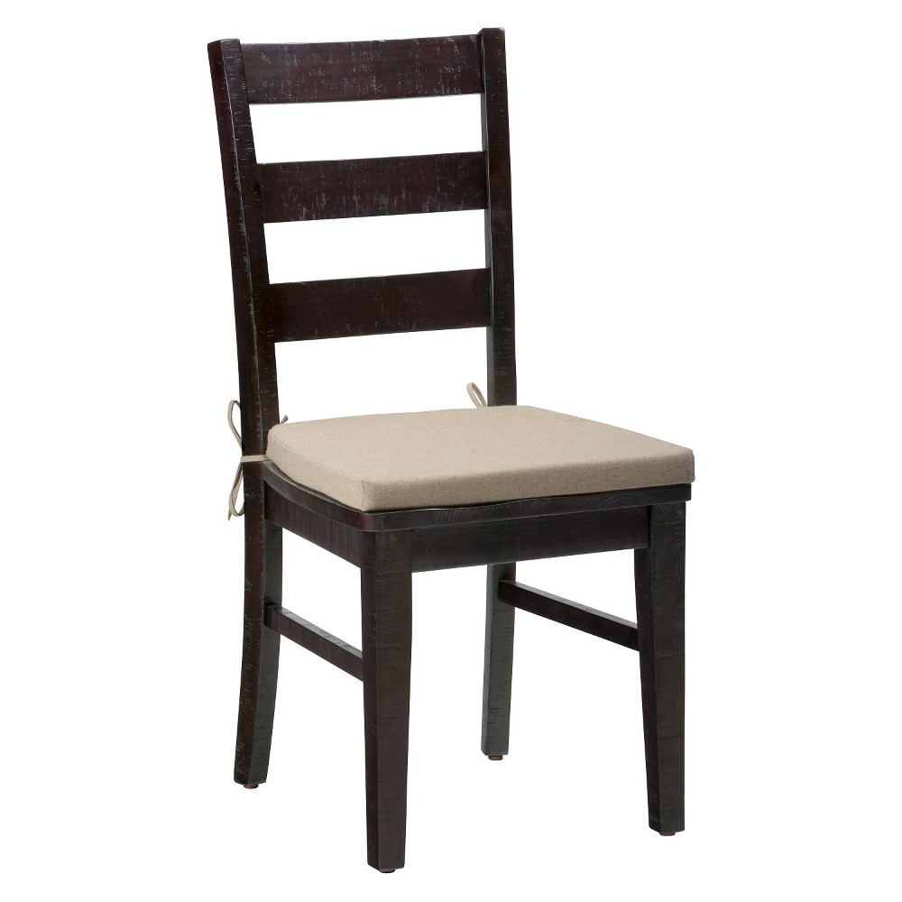 Prospect Creek Pine Three Rung Ladderback Dining Chair Wood/Dark Brown (Set of 2) - Jofran Inc. The Prospect Creek Pine Three Rung Ladderback Dining Chair is the perfect seat to compliment a rich and striking dining set. With a relaxed cottage design featuring reclaimed pine and heirloom details, our Prospect Creek's deep finish introduces an element of depth and warmth with pieces that will be mainstays in your home for years to come. Contoured seating and solid wood construction will make these Prospect Creek Pine Three Rung Ladderback Dining Chairs are the ideal place to enjoy a long dinner with friends or fun Sunday brunch with family. Cushions not included. Color: Cocoa. Age Group: Adult.