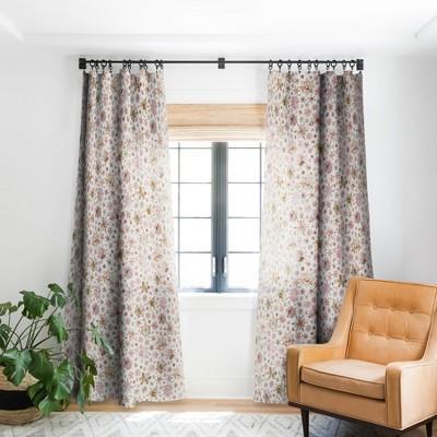 Ninola Design Snowflakes Watercolor Pink Single Panel Blackout Window Curtain - Society6