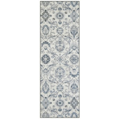 2'x6' Runner Olympia Gray/Blue - Maples