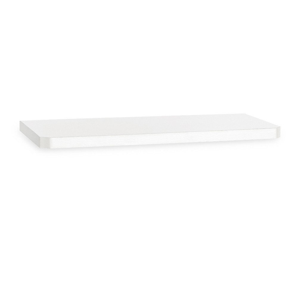 "Image of ""36"""" Eco Friendly Decorative Wall Shelf White - Way Basics"""