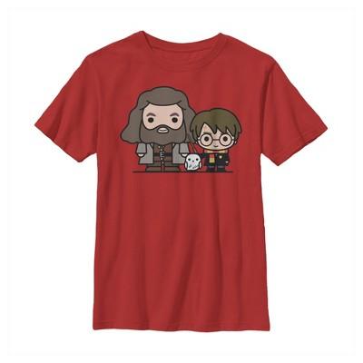 Boy's Harry Potter Hagrid & Hedwig Kawaii Cuties T-Shirt