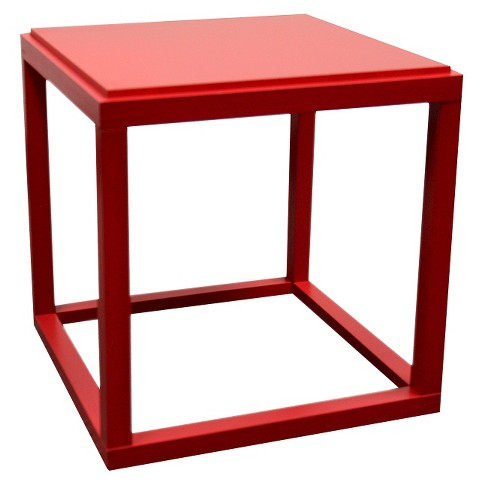 Stackable Cubic Table Red - Ore International - image 1 of 1