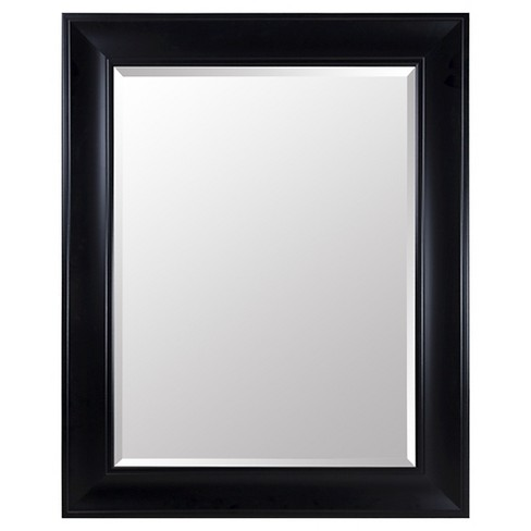 Rectangle Beveled Decorative Wall Mirror with Wide Profile - Gallery Solutions - image 1 of 5