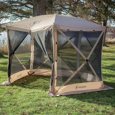 & 4-Person 5-Sided Portable Gazebo Screen Tent Tan : Target