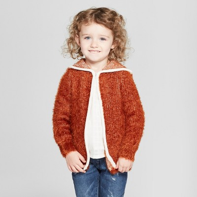 Toddler Girls' Cardigan - Genuine Kids® from OshKosh Brown 12M