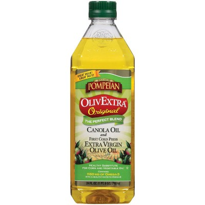 Olive Oil: Pompeian OlivExtra Canola + Extra Virgin Olive Oil