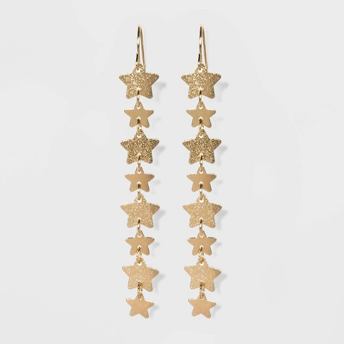 Liner Drop with Star Earrings - Wild Fable™ Gold - image 1 of 3