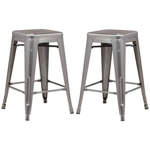 """24"""" Set of 2 Franco Industrial Counter Height Stool - Poly & Bark - image 1 of 3"""