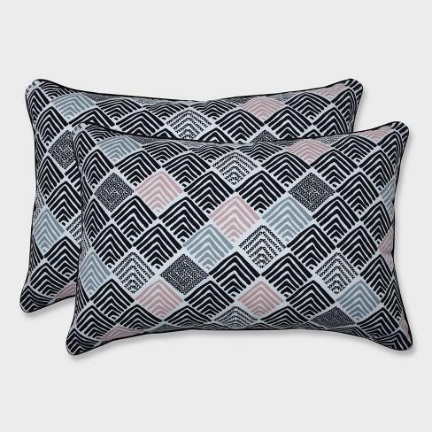 2pk Oversize Belk Shadow Rectangular Throw Pillows Black - Pillow Perfect - image 1 of 1