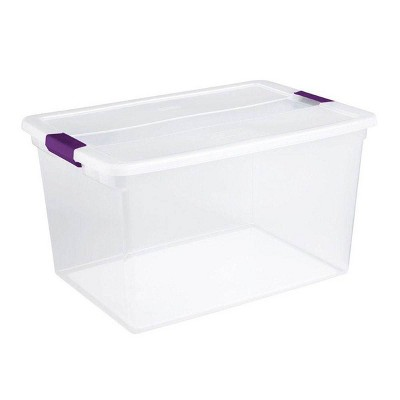 Sterilite 17571706 66-Quart ClearView Latch Box Storage Tote Container (30 Pack)