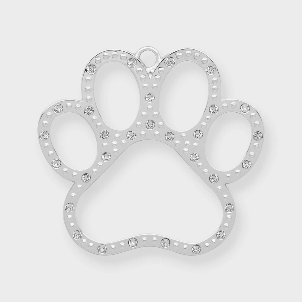 Image of Dog Paw Print Ornament - Harvey Lewis, Silver