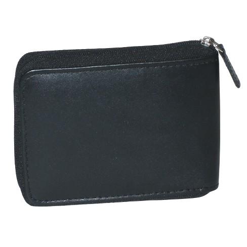 Buxton Men s Zip Around Billfold Wallet - Black   Target d9946d14aeceb