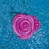 "Swimline 76"" Inflatable Rose Flower 1-Person Swimming Pool Float - Pink/Green - image 3 of 4"