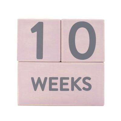 Pearhead Baby Milestone Age Blocks - Pink