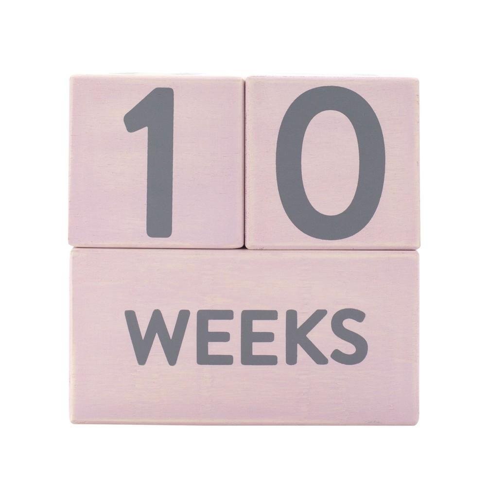 Image of Pearhead Baby Milestone Age Blocks - Pink