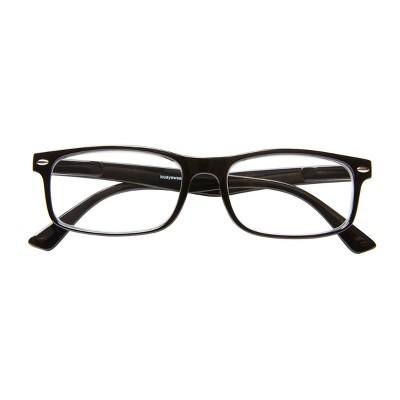 ICU Eyewear - Emeryville - Plastic Rectangle Shiny Black