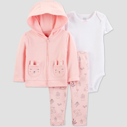 5d75d664c1a4 Baby Girls  3pc Bunny Cardigan Set -Just One You® Made By Carter s ...