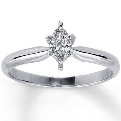 Pompeii3 1/4ct Solitaire Marquise Diamond Engagement Ring 14K White Gold