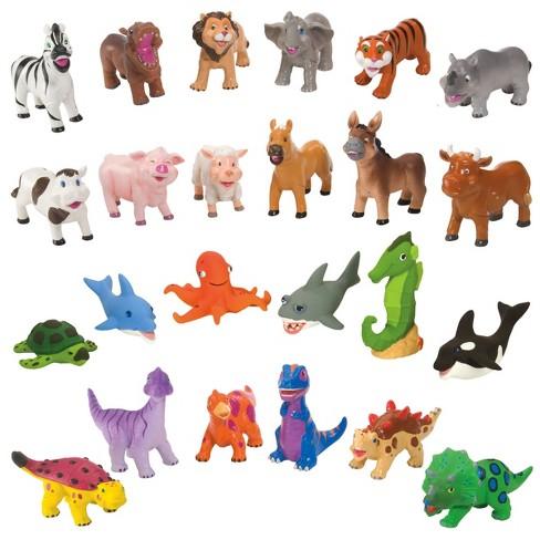 Pack Of 6 Dinosaur Plastic Toy Animal figures Sea Word Firm