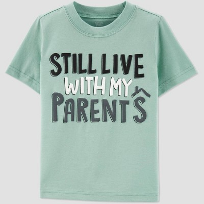 Toddler Short Sleeve Family Love 'Still Live With My Parents' T-Shirt - Just One You® made by carter's Green 18M