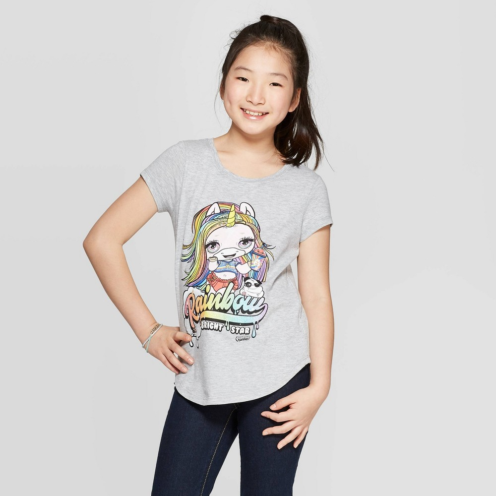 Image of petiteGirls' Poopsie Slime Surprise! Short Sleeve T-Shirt - Heather Gray L, Girl's, Size: Large