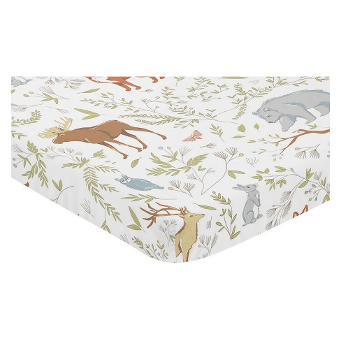 Sweet Jojo Designs Mini Fitted Sheet - Woodland Toile - image 1 of 2
