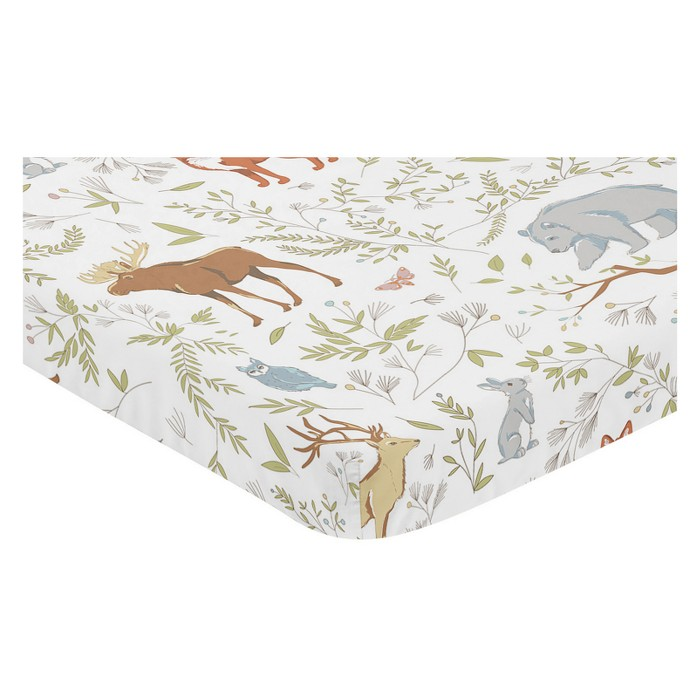 Sweet Jojo Designs Mini Fitted Sheet - Woodland Toile - image 1 of 1