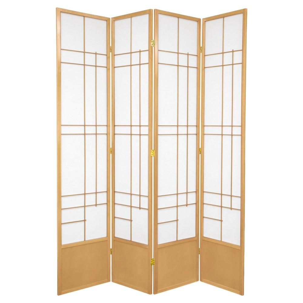 7 ft. Tall Eudes Shoji Screen - Natural (4 Panels)