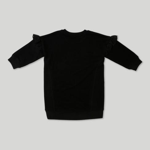 af311e60117 Toddler Girls  Afton Street Long Sleeve Tunic Dress - Black - 12 Months    Target