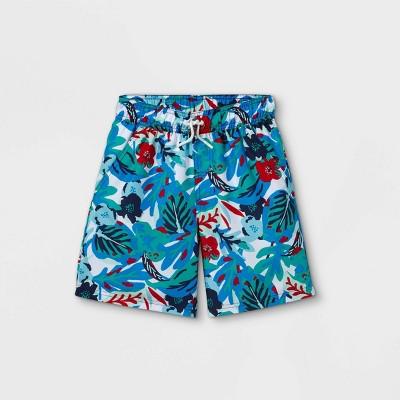 Boys' Leaf Print Swim Trunks - Cat & Jack™
