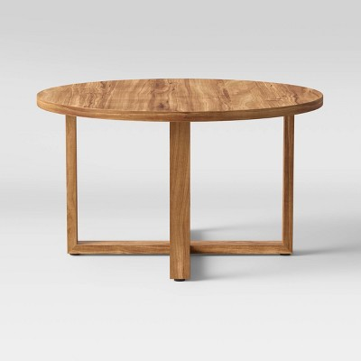 Sindri Round Wooden Coffee Table Brown - Project 62™