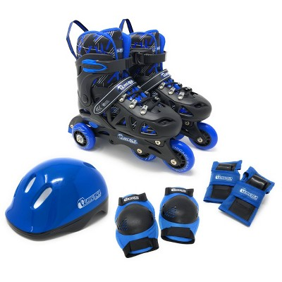 Chicago Skates Training Kids' Roller Skate Combo Set - Black/Blue