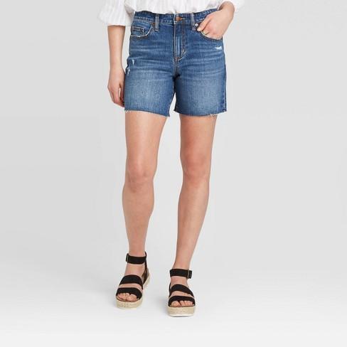 Women's High-Rise Boyfriend Jean Shorts - Universal Thread™ - image 1 of 3