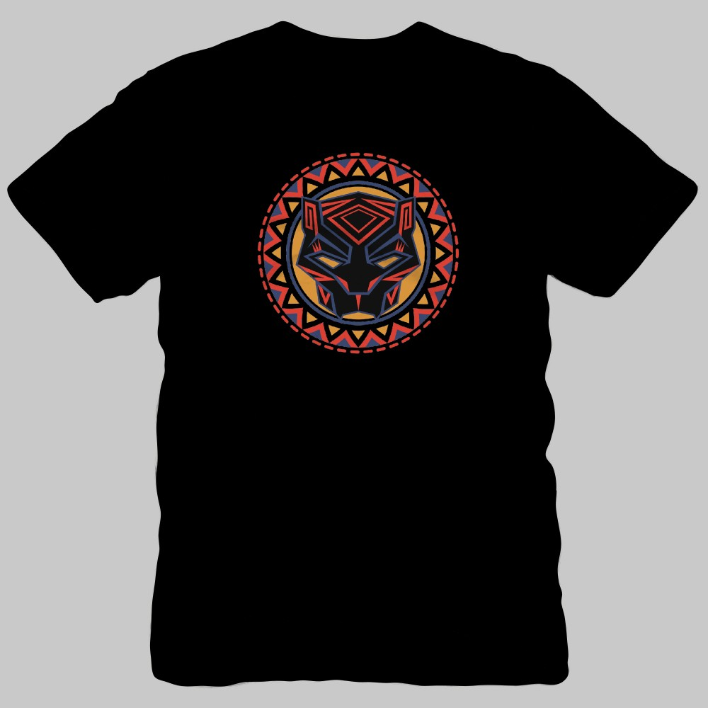 Men's Marvel Black Panther Aztec Logo Short Sleeve T-Shirt - Black XL