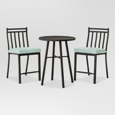 Fairmont 3pc Steel Balcony-Height Patio Bistro Set - Threshold™ - image 1 of 7