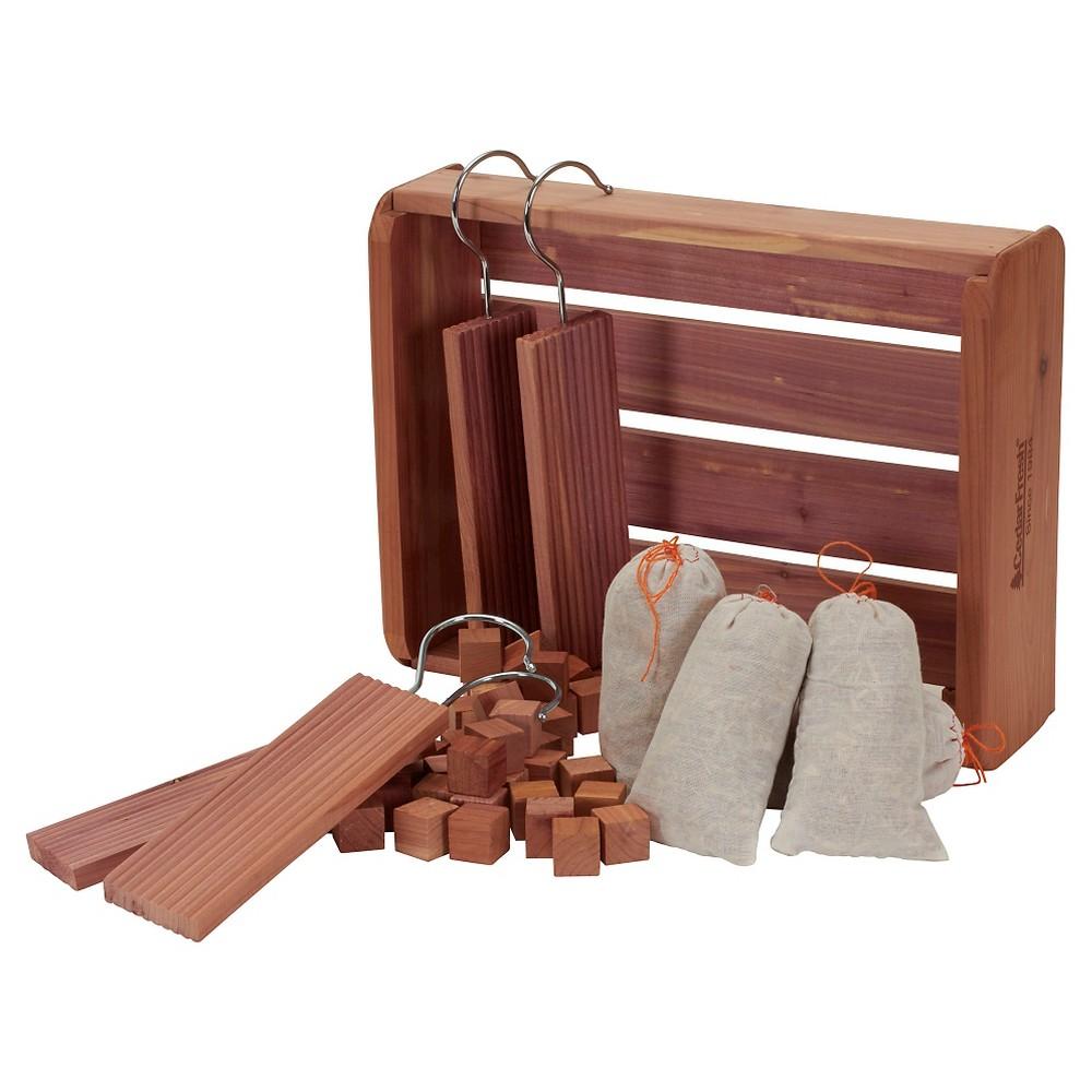 Household Essentials - 50 Pc Cedar Storage Accessory Starter Set - Natural, Wood