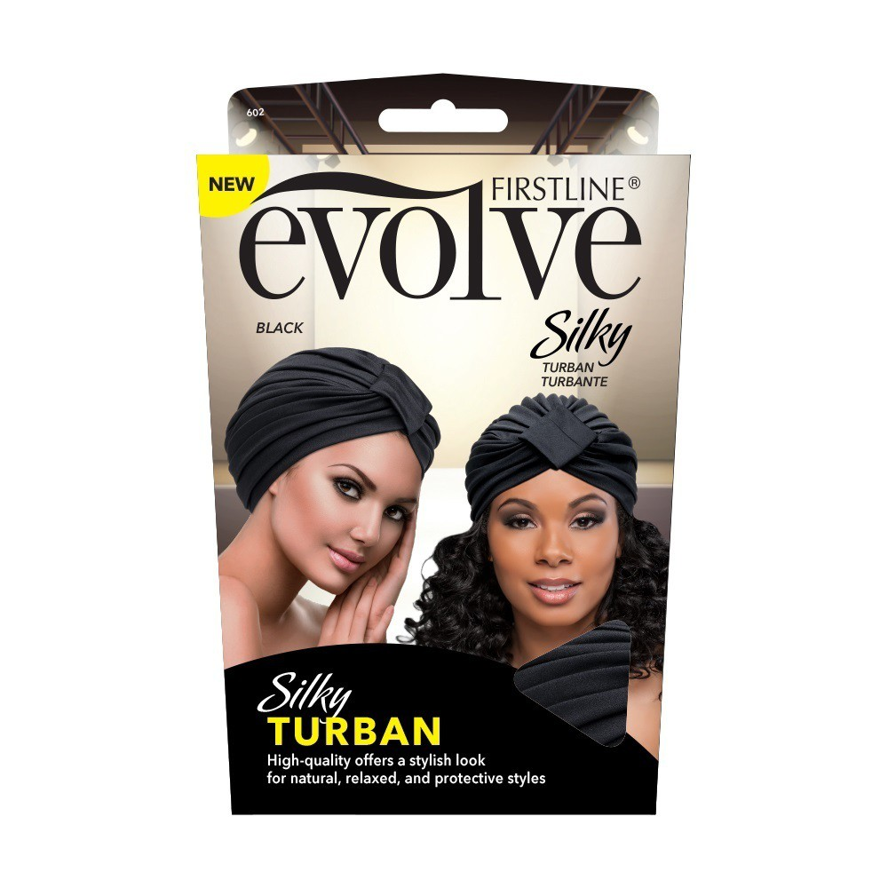 Evolve Silky Turban - Black