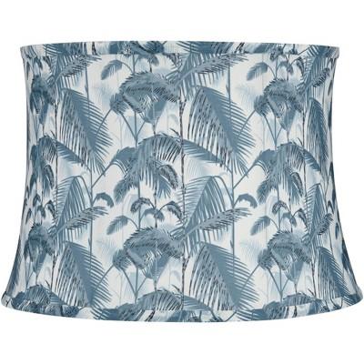 Springcrest Light Blue Palm Tree Drum Lamp Shade 14x16x11.5 (Spider)