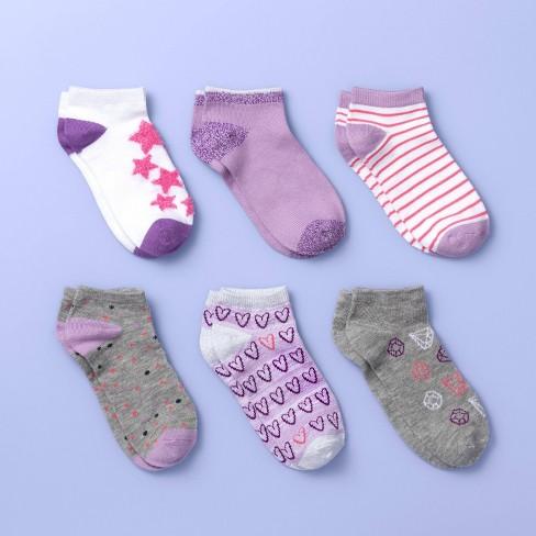 Girls' 6pk Super Soft Low Cut Socks - More than Magic™ Purple - image 1 of 2
