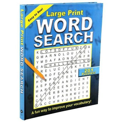 Large Print Word Search - (Large Print Puzzle Books) (Paperback) : Target