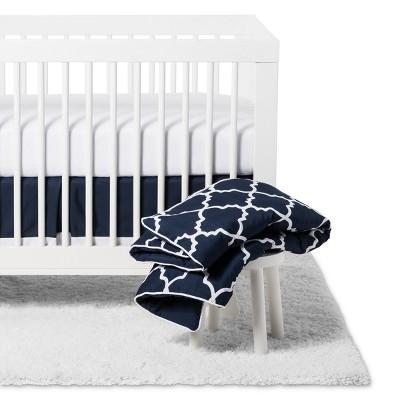 Sweet Jojo Designs 11pc Crib Bedding Set - Trellis - Navy Blue