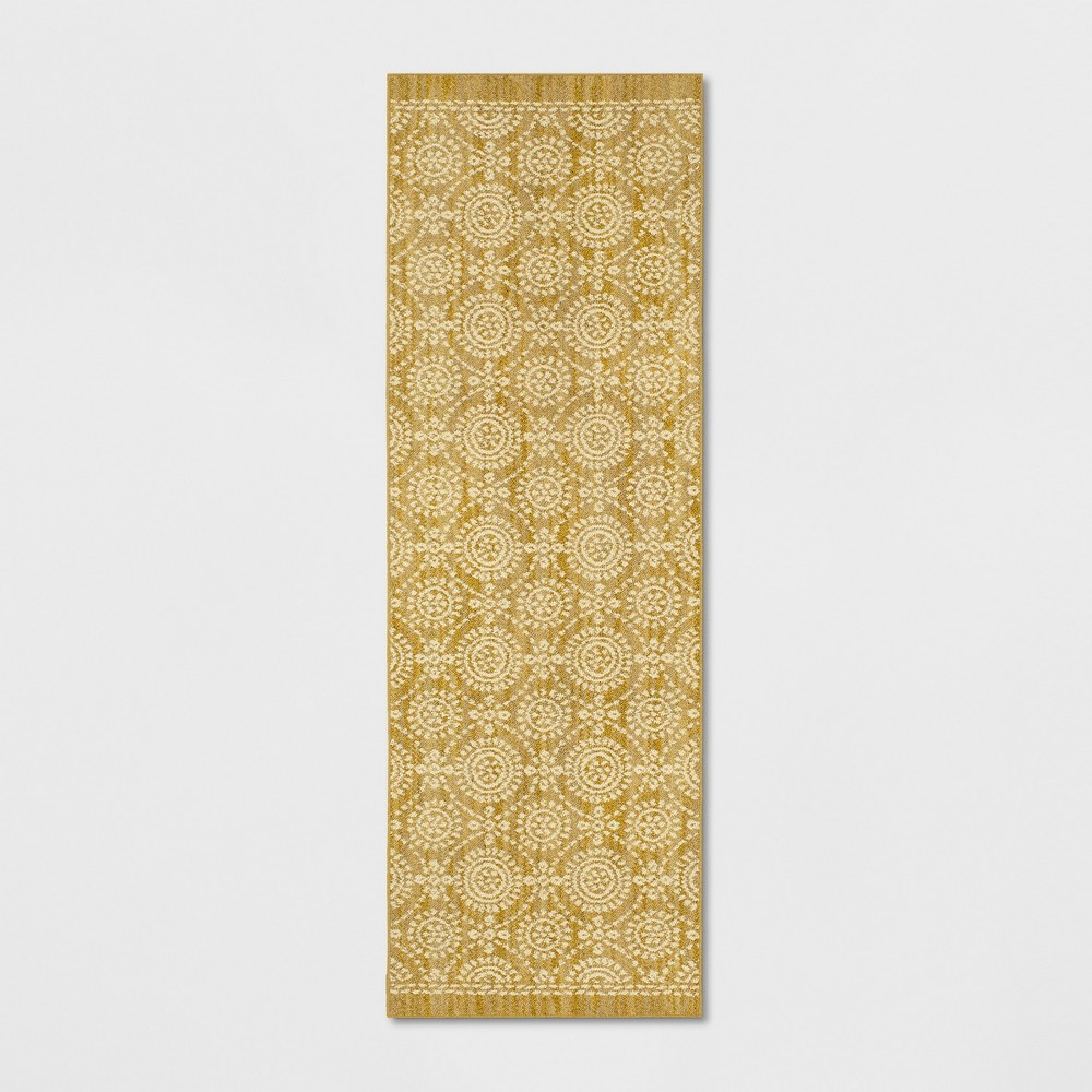 2'4X7' Shapes Tufted Accent Rugs Gold - Threshold
