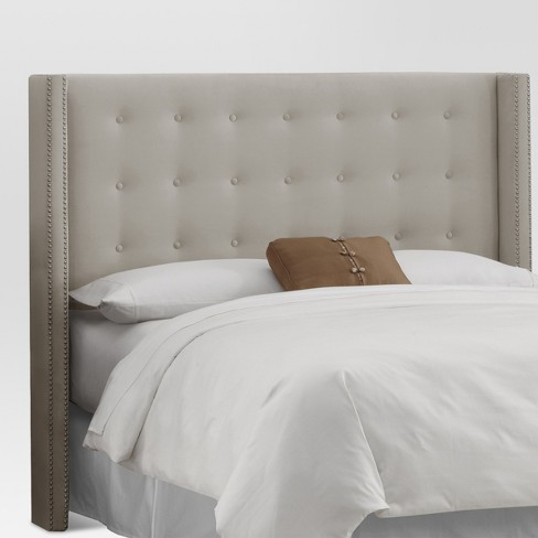 Nail Button Tufted Wingback Velvet Headboard  - Threshold™ - image 1 of 2
