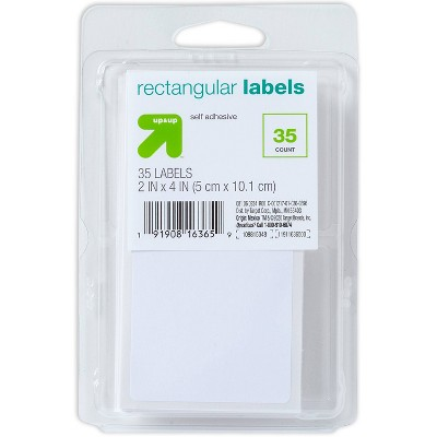 """35ct 2""""x4"""" Rectangular Labels White - up & up™"""