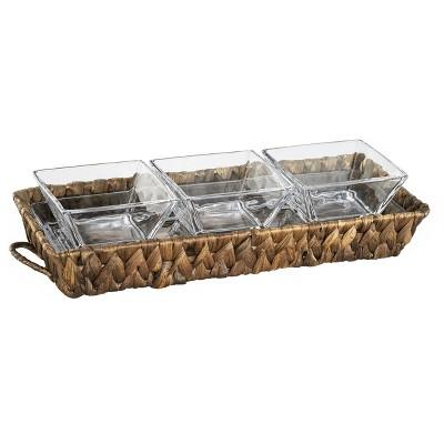 Artland® Garden Terrace Rectangle 4pc Serving Tray With Handles