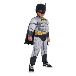Toddler Boys' Justice League Batman Muscle Deluxe Halloween Costume